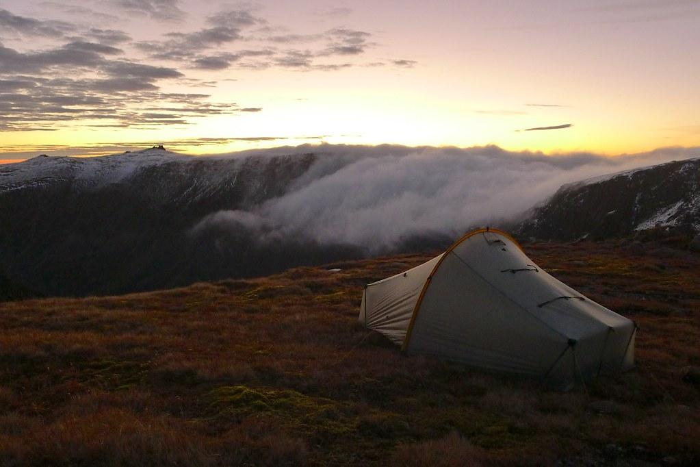 Camping above Ben Avon