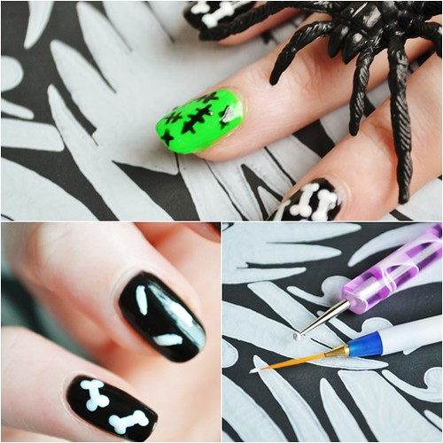 bone halloween nails