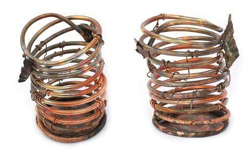 Copper Orchid Pots - Handmade