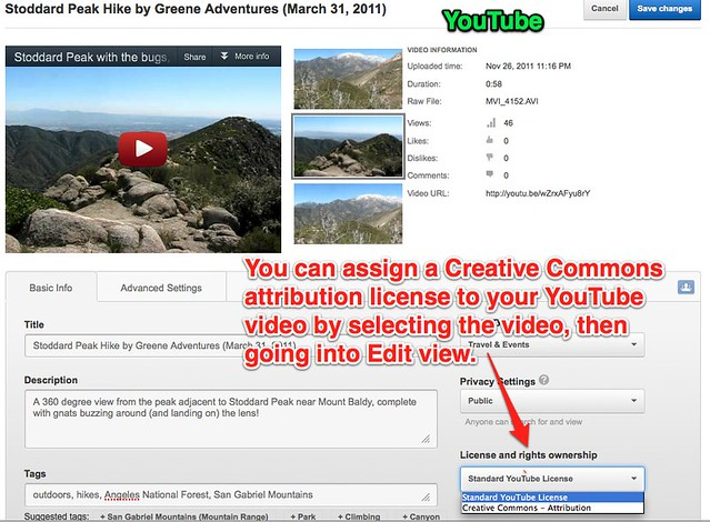 Assign Creative Commons to a YouTube Video