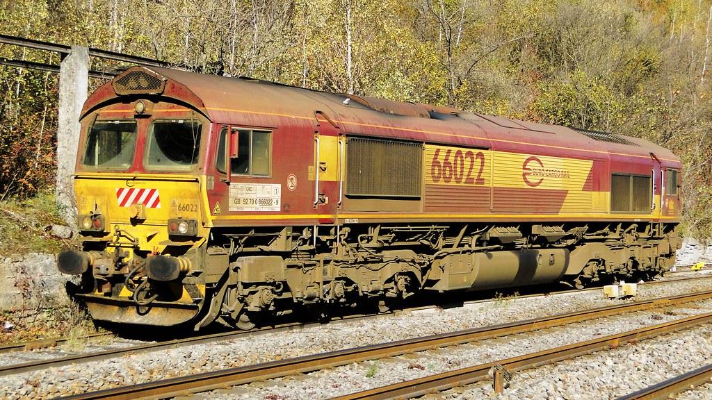 ECR Diesellocomotive N° 66022 near Givet.