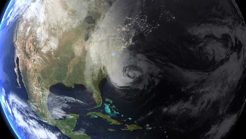 Hurricane Sandy in the Atlantic