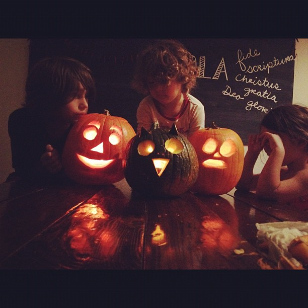 and the post pumpkin carving cry