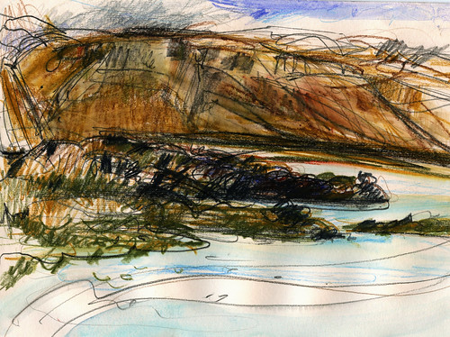 Iceland sketches:view from Budir estuary