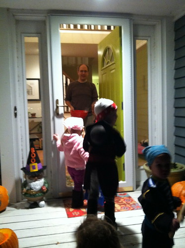 Trick-or-Treating at our front door!