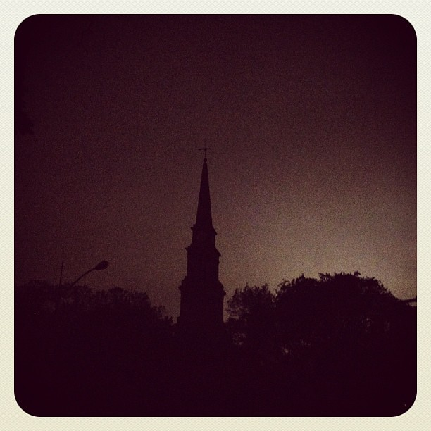 St Marks Church in the blackout #Sandy #NYC