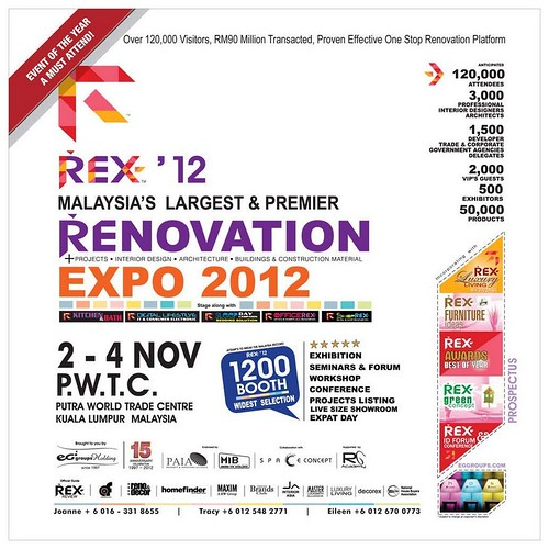 Malaysia's Largest Renovation Event - Rex Malaysia International Renovation Expo 2012! @ PWTC