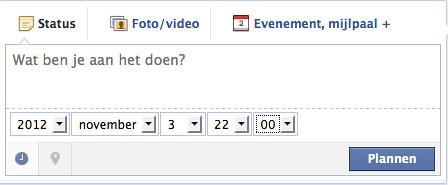 Uitgesteld publiceren. Facebook - stap 2