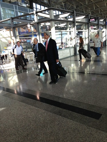 John Kerry at Austin Bergstrom Airport