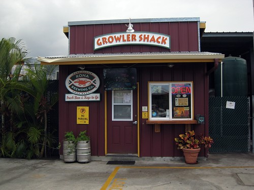 Kona brewing growler shack