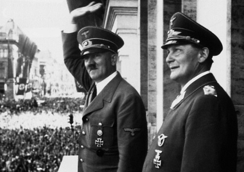 Adolf Hitler with Hermann Goering