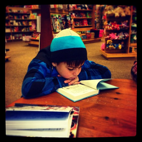 He's a reader and I love it.