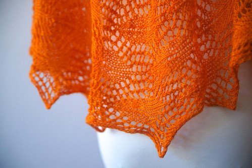 Andria's Shawl Glazed Over Carrots