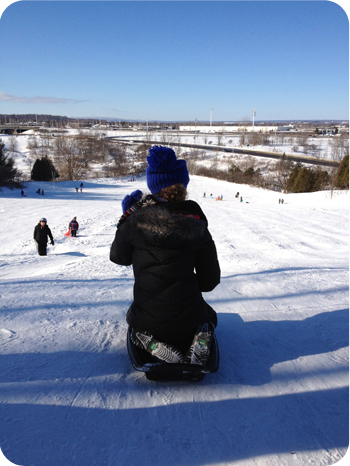 Sledding at Green's Creek, Ottawa