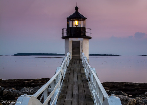 Marshall Point LIghthouse, ME. at Dusk