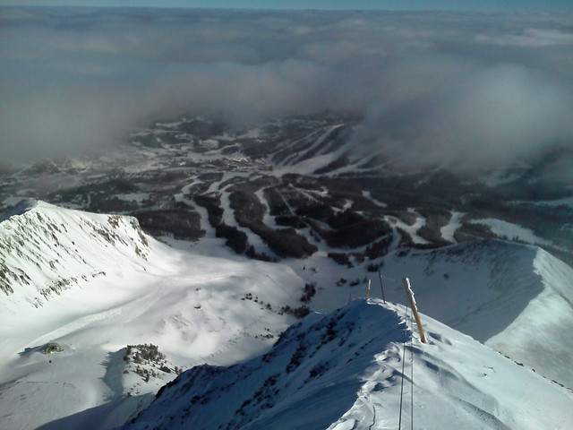 Base Area Through the Clouds - 1-13-13