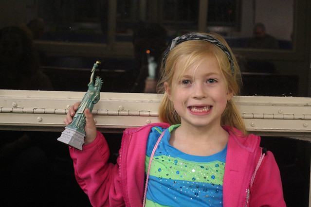 My little lady with her little Lady Liberty