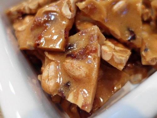 Apple Cider Peanut Brittle with Maple and Bacon