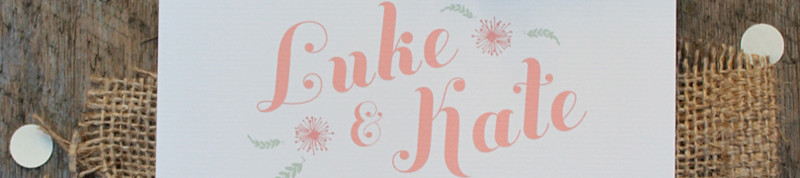 Kate and Luke Wedding Stationery