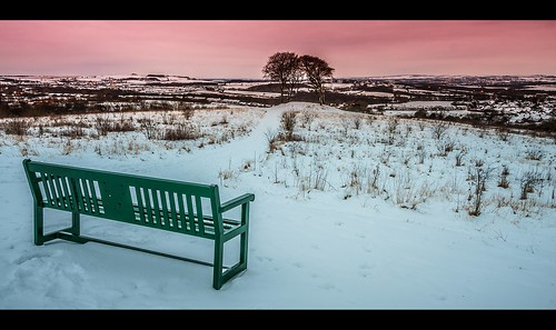 uk trees winter sunset england sky white snow cold green ice nature clouds sunrise canon bench landscape purple freezing tamron northeast sevensisters hitech houghtonlespring tamron1750f28 canon40d