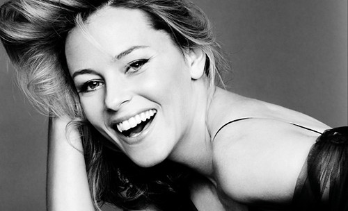 Elizabeth Banks laughing