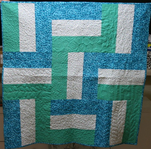 rail fence charity quilt - front