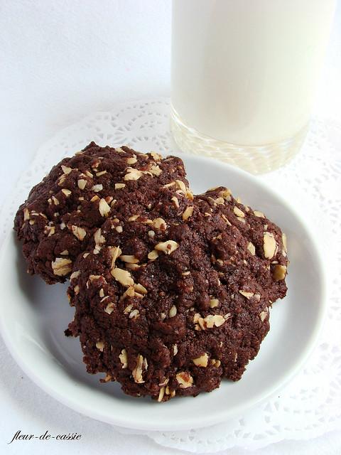 шоколадное печенье с овсяными хлопьями 1