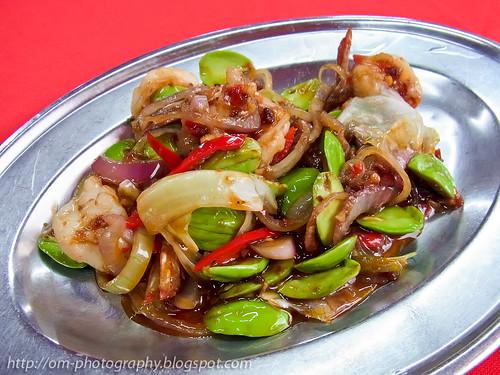 sambal petai with prawns, restoran sen lee heong taman sri sinar R0021199 copy