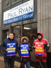 Racine residents tell Rep. Ryan no cuts to Medicare, Medicaid or Social Security by wisaflcio