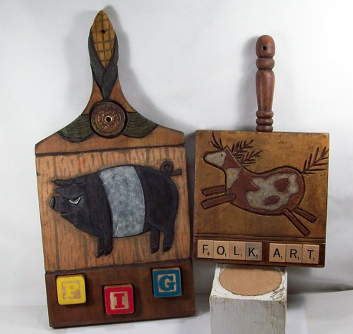 Cut Board Pig Horse A by LLA Creations