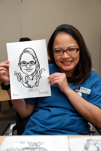 caricature live sketching for Khoo Teck Puat Hospital, Nurses' Day - 18