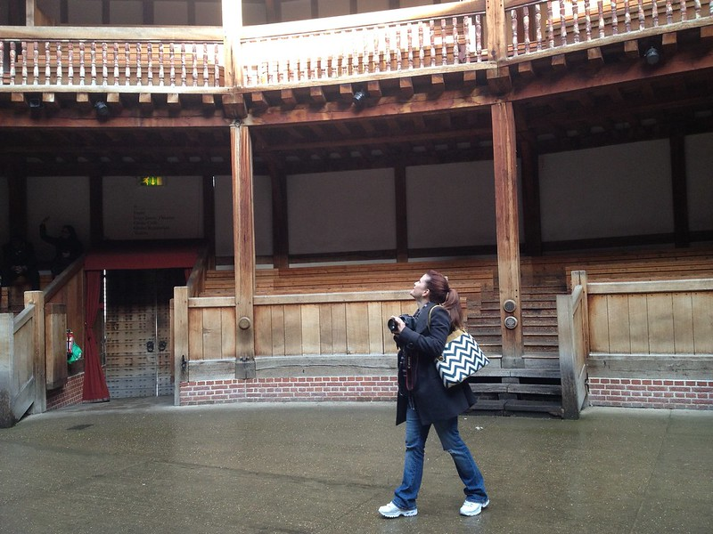 Janet at Globe Theater