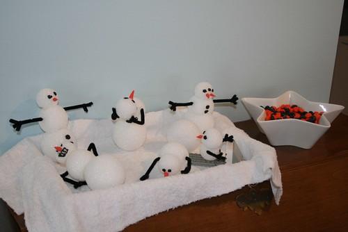 Calvin's crazy snowmen