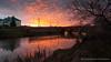 Red Bridge at Dawn