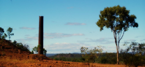 A chimney and a tree