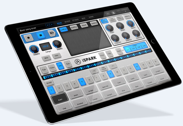 iPad版の超強力ドラムマシン、iS...