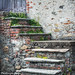 Old steps in Airale Superiore, Italy