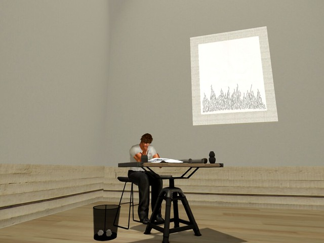 UWA - Waspland - UWA Lawrence Art  Gallery -  A Study of Study Under  Doodle 13