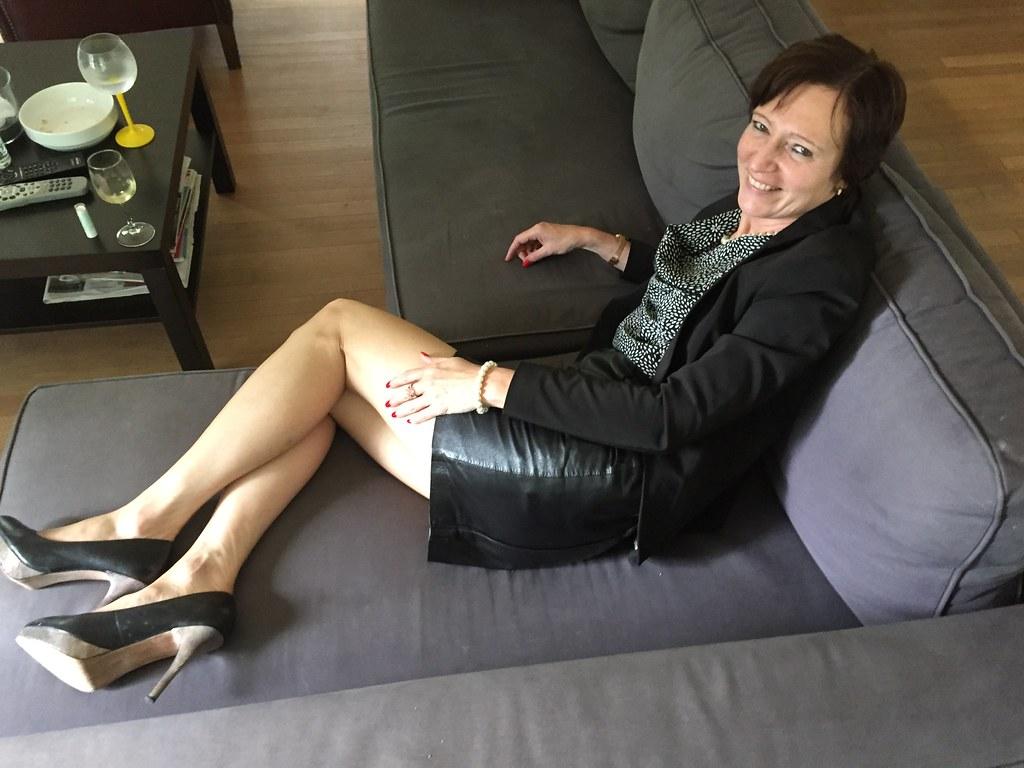 Ældre læder nederdel-9700