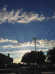 skies over the parking lot