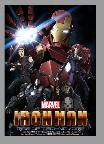 121011(2) - 「黑寡婦、鷹眼、神盾局長、戰爭機器」現身2013年日本動畫版《Iron Man: Rise Of Technovore (鋼鐵人:噬甲病毒崛起)》續集長片!