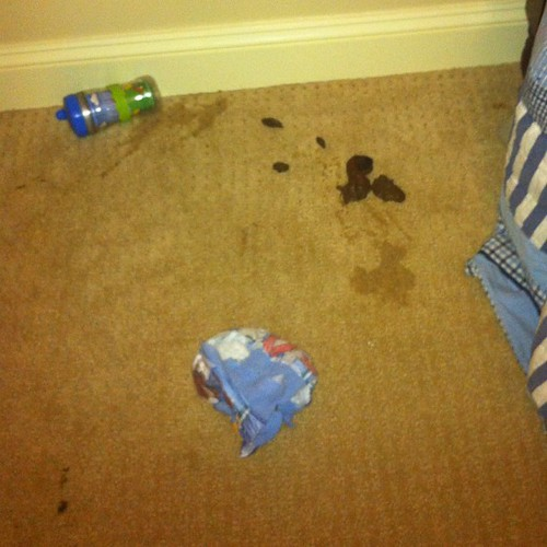 Miller's antics last night. Poop...yes poop on the ground. That is not from my dog but my 2 year old. It's everywhere!  #pleaselordmakebabygirlgood