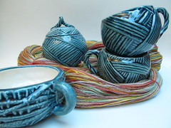 The ceramic yarn collection: Peacock