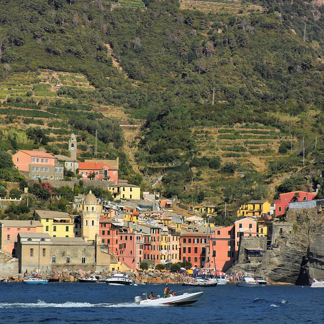 A glimpse of Vernazza on the Gulf of Poets