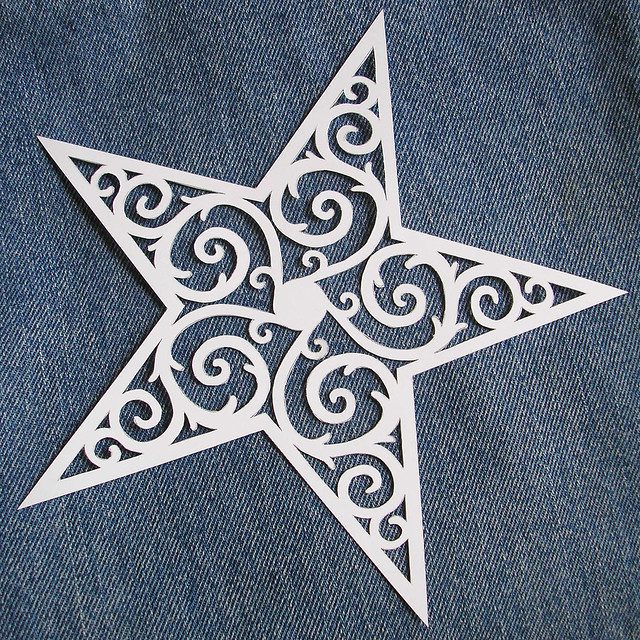 Filigree Star Tattoo Design