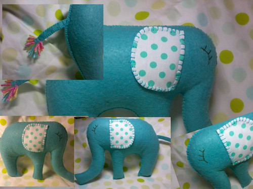Elefante azul. by ♥Paninhos em forma de amor♥