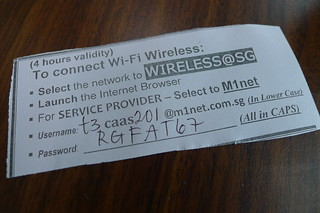 free WIFI @ 樟宜機場