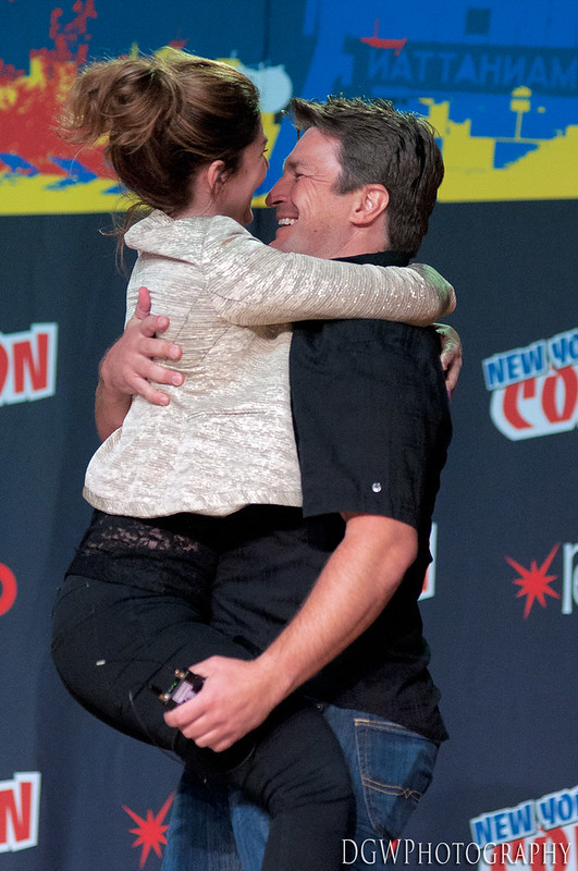 NY Comic Con - Nathan Fillion Surprises Jewel Staite