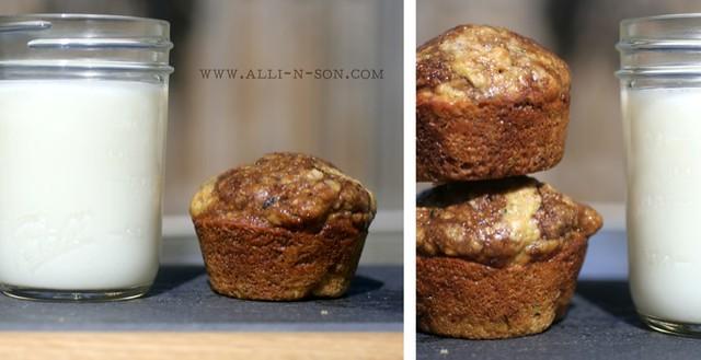 Nutella Swirled Zucchini Muffins Recipe from www.alli-n-son.com