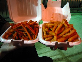 Cajun Fries and Sweet Potato Fries
